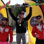 Mia Henry (1st), Antonia Wearmouth (2nd), Stefanie Fleckenstein (3rd) - Keurig Cup GS at Red Mountain