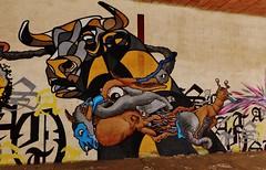 Graffiti, ancienne manufacture de tabac (thierry llansades) Tags: street urban streetart colors wall graffiti couleurs cigarette graf urbanart ruine tabac abandon graff aerosol mur couleur usine murs abandonned graffitis fresque manufacture ruines urbex abandonn graffs graphisme grafs ouest fresques urbex2015 urbe2015