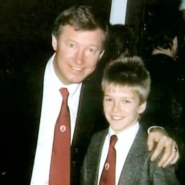 Great pic of Sir Alex with me old mate David Beckham.