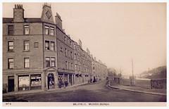 Belfield, Musselburgh, 1910. (Paris-Roubaix) Tags: old bridge vintage river scotland edinburgh roman antique scottish east postcards lothian belfield grocers the midlothian musselburgh esk williammarr
