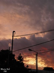 No filter (Sol Fotografa) Tags: street city pink light sky sun beautiful birds clouds cloudy violet olympus wires