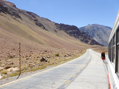 Uspallata Pass over the Andes