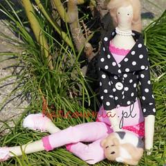 Tilda named Kazia and her sweet puppy (harcownia.pl) Tags: doll handmade tilda giftidea lalka handmadedoll tildas rkodzieo rcznierobione warkocz tildafabric pomysnaprezent ilovetilda tildafuns madetithlove