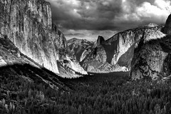 Magnificent Valley (Doug Santo) Tags: tunnelview yosemitenationalpark yosemitevalley elcapitan halfdome landscapephotography blackandwhite