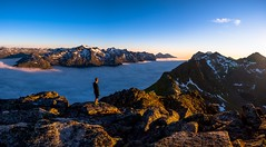 Above the skies (tryggstrand) Tags: world sunset wallpaper sky panorama mountain mountains color sports nature norway fog clouds landscape landscapes nikon flickr view hiking earth horizon tamron instagram