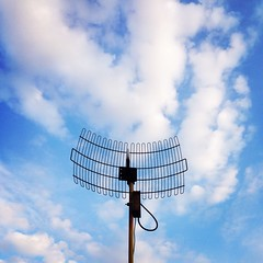 Listening to the Clouds (Jack Toolin) Tags: sky clouds technology antennas