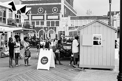 beach badges (mfauscette) Tags: 35mm fsc ishootfilm istillshootfilm kodak kodakportra800 nikon nikonf6 analog asburypark beach blackandwhite boardwalk film filmisnotdead filmshooterscollective jerseyshore street