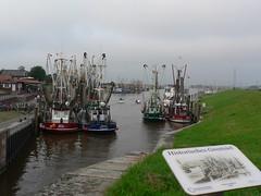 fishing harbour Greetsiel (achatphoenix) Tags: greetsiel port leybucht eastfrisia germany 1388 hafen harbour fischerdorf fishingvillage fischerort ostfriesland lowersaxony chalutier fischkutter