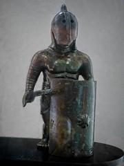 Bronze figure of a gladiator found in Arles, France Roman 1st century BCE - 4th century CE (mharrsch) Tags: gladiator warrior armor armour roman ancient arles arelate exhibit musedelarlesantique france mharrsch
