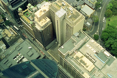 A bit different from the top (Views from Sydney Tower #02) (Sergiy Lenzion) Tags: city 50mm daylight xpro view 14 sydney australia olympus autos om2 gzuiko filmism cinestill