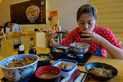 Her Favorite...Yoshinoya... (Kantashoothailand) Tags: fujifilm xt10 xf16mmf14rwr mywife lunch meal yoshinoya japanesefood timestopenjoythemoment happiness dailylife