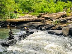 Sweetwater Creek Falls. Rock Sculptures (InspiredVision) Tags: waterfall rocksculpture sweetwatercreek georgia