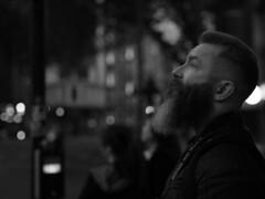 urban feel (Cosimo Matteini) Tags: portrait bw london boyfriend night pen beard olympus facialhair m43 mft michaelwhite ep5 urbanfeel cosimomatteini mzuiko45mmf18