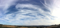 Cloudscape looking towards Emley Moor mast. (JevoUK) Tags: emley moor white blue sky clouds