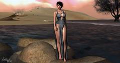 ~ 286* (Luiza Oskar) Tags: iconic hairfair2016 gutchi slink indented letre logo fashion sl secondlife avatar meshhead head hair virtuallife beach dress lovenecklace