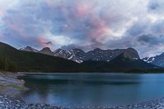 Mount Sarrail (Bun Lee) Tags: canadianrockies kananaskiscountry landscape rockymountains alberta bunlee bunleephotography canada clouds cloudyskies dusk lake mountainrange mountains nature sunset upperkananaskislake water