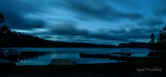 The Boundary Waters (East Western) Tags: clearwater lake minnesota mn 2014 boundary waters canoe area wilderness wild camping cabin evening night long esposure panorama bwca