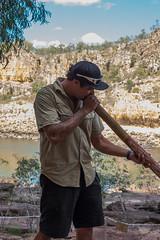 Katherine Gorge Aborigional didgeridoo playing -2