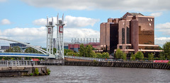 Old Trafford from Salford Quays (uplandswolf) Tags: oldtrafford salfordquays manchester water bridges