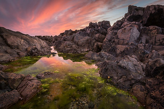 St. Clements rockpool/sunset.