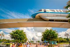 Mark IV Monorail (Bobby Meade   Photography) Tags: wdw waltdisneyworld disney epcot orlando florida resort themepark spaceshipearth monorail monorailblue nikon d7100