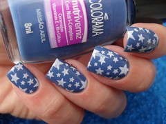 Colorama - Misso Azul + JQ-02 (Barbara Nichols (Babi)) Tags: colorama azul blue bluenailpolish mos unhas nails carimbo carimbada jq02 estrelas
