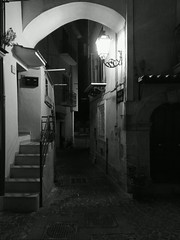 Castellone (Antonio Casciello) Tags: street night italy formia black white phone streetfotografy urban canon eos500d biancoenero monochrome italia urbanphotografy city lantern lanterne