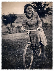 Mom (1917-2009) ((Imagine)) Tags: 190099 circello familylife flickr monochrome scan sepia vintage