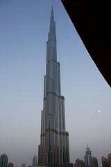 Burj Khalifa (mishkaslens) Tags: skyscraper dubai mydubai burjkhalifa moon tower
