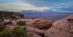 La Sal Mountains from Grandview Point, Canyonlands NP (tr0mbley) Tags: canyonlandsnationalpark la sal mountains utah colorado mountain range canyon desert moab arches geological formations river plateau sage hike hiking backpacking camping southwest edward abbey nikon d810