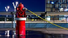 Leak (Z-tec) Tags: leaking pipe leak night bnf bibliothquefranoismitterrand firehydrant red