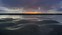 sand shapes (go wild - NZ outside) Tags: waitarere low tide sunset