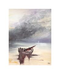 Rivage (Yvan LEMEUR) Tags: aquarelle barque sea marine mer acuarela watercolour peinture