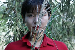 stranger (kangru00) Tags: she blue red fish cold flower photoshop canon asian weird erotic style dry stranger korea passion