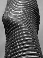 """Marilyn"" Minimalist Lines & Curves .... Mississauga, Ontario (Greg's Southern Ontario (catching Up Slowly)) Tags: bw monochrome architecture marilynmonroe minimalism mississauga modernistarchitecture condominium blackandwhitephotography minimalistphotography linesandcurves themarilyn yansongma"