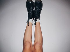 Feet first (Romina De La Puente) Tags: feet canon photography shoes boots grunge vignette tumblr