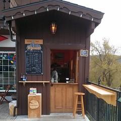 Bavarian Coffee Box (Heath & the B.L.T. boys) Tags: door brown coffee washington chalkboard shelves instagram