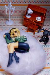 Meiko's room (gwennan) Tags: anime color macro cute colors japan closeup toy figure figures pvc meiko tachibana kotobukiya jfigure tachibanameiko tomodachiijoukoibitomiman