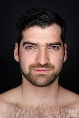 Ara 01 (WF portraits) Tags: portrait hairy male studio naked beard model arm chest ringlight