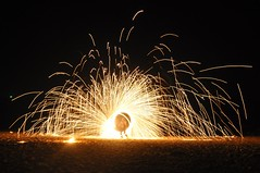 DSC_8678crop (Kullez) Tags: show sunset vacation beach relax thailand fire koh lanta semester eld