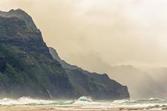 Rough Seas at Ke'e Beach (jadennyberg) Tags: ocean mountains hawaii waves kauai keebeach haenastatepark