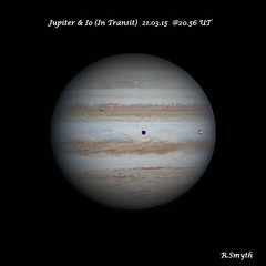 Jupiter With Io in Transit 21.03.15 @20.56UT (Ralph Smyth) Tags: io planetjupiter iotransit