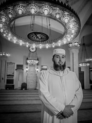 Abderrahman Bakkali Kasmi, Preaching Iman, Mosque of the Custodian of the Two Holy Mosques (David Parody) Tags: david m parody 2014