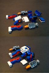 MFZ - 31027 (alt model) - Blue Gunner - breakdown (dark_syntax) Tags: lego mecha mech moc microscale mechaton mfz mf0 mobileframezero alernatemodel