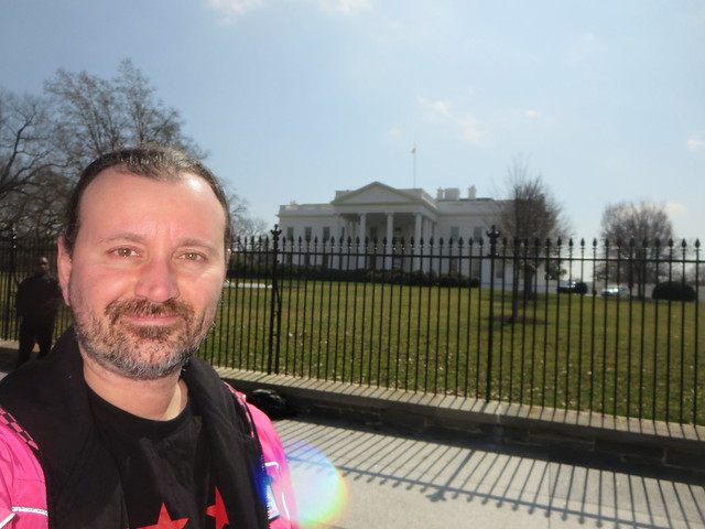 Ryan Janek Wolowski visiting The White House in Washington, D.C. USA United States of America