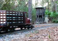 End of the day pause (clarkfred33) Tags: rustic watertower hobby wtb modelrailroad modeltruck bostwick railtruck railroadphotography outdoorrailroad scalerailroad 712inchgauge railroadhobby modelscene railroadscene railroadadventure livesteamrailroad nefls