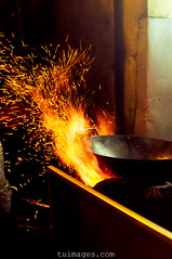 wok cooking asian style (Tu_images) Tags: street travel food hot cooking asian fire cuisine fry asia flames chinese cook style burning flame burn stove burnt malaysia heat temperature stir sparks fried spark wok frying