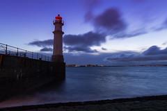 Descending Night (Kyoshi Masamune) Tags: longexposure sunset sea lighthouse scotland edinburgh h