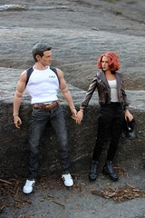 Clint and Natasha's Day in Central Park (ShellyS) Tags: nyc newyorkcity centralpark manhattan actionfigures hawkeye blackwidow hottoys clintbarton natasharomanova