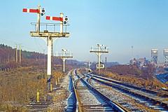 Rufford Coll Sdgs 29 Dec 1976 (John-Sydney-Han) Tags: signals rufford mansfield signalbox midlandrailway ruffordnotts ruffordcolliery ruffordcollierysidings